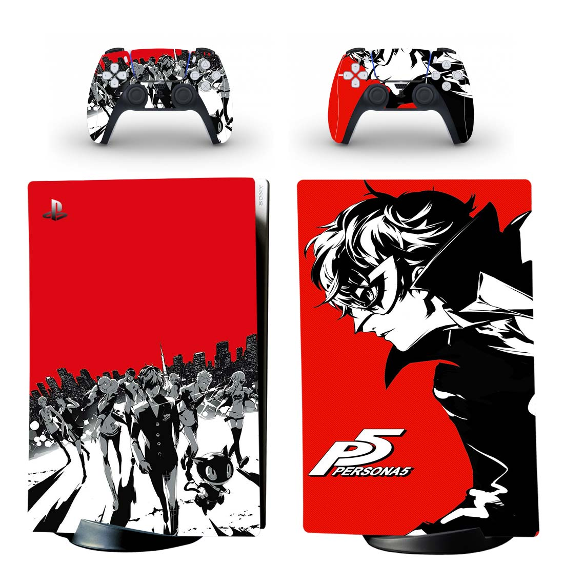 Persona 5 Skin Sticker Decal For PS5 Digital Edition