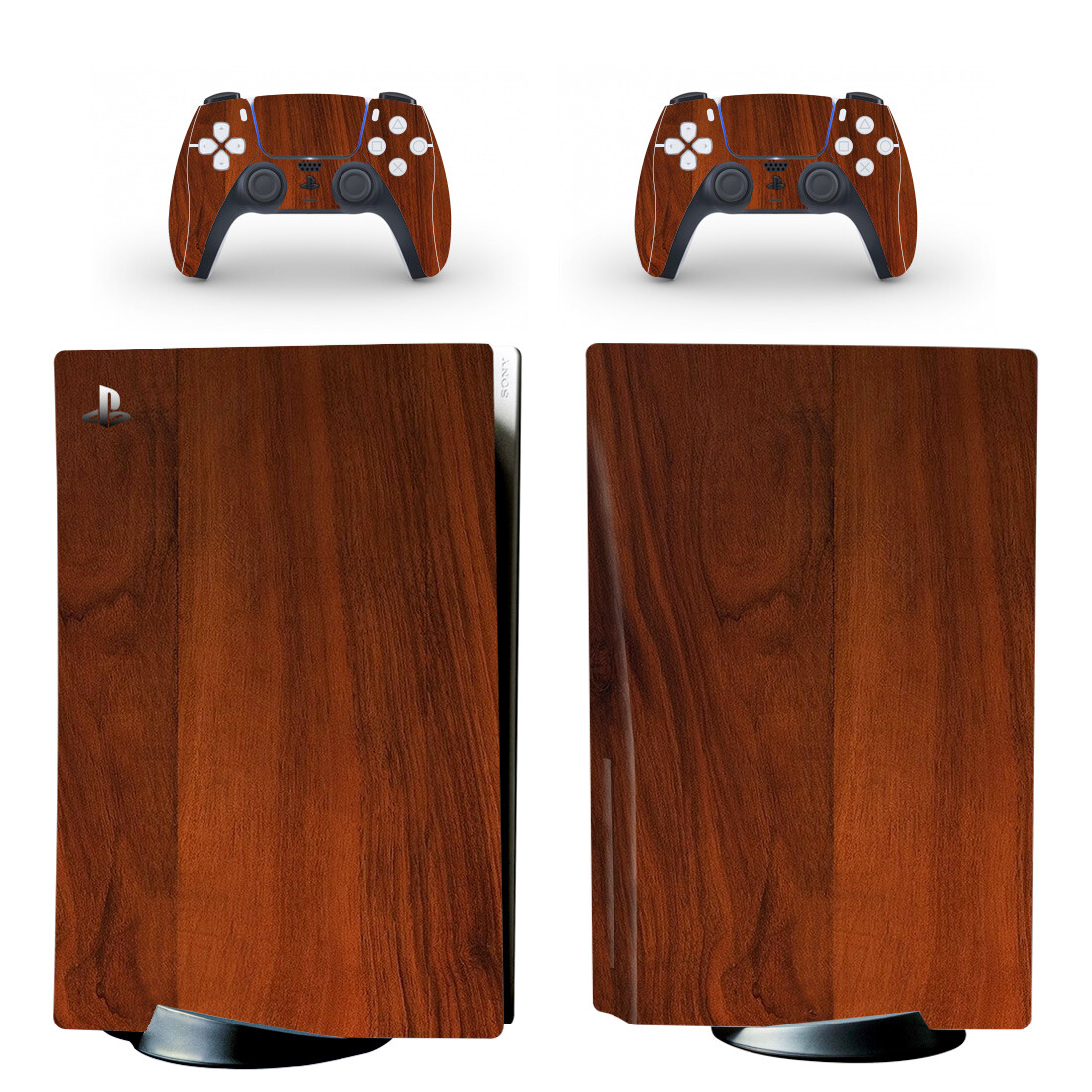 Flooring Wood PS5 Skin Sticker For PlayStation 5 And Controllers Design 1