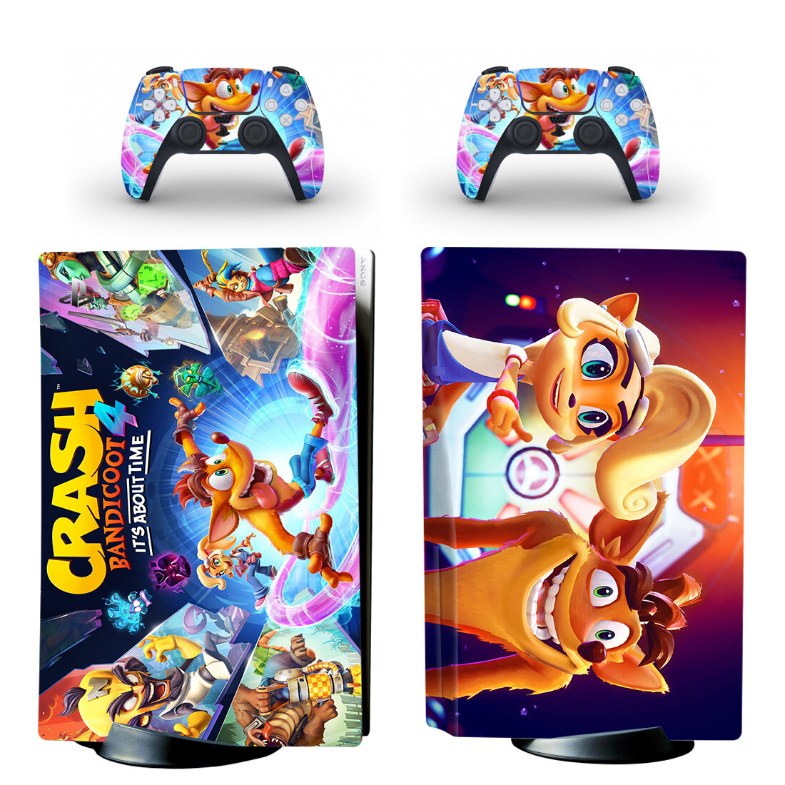 Crash Bandicoot 4 It's About Time PS5 Skin Sticker Decal Design 2