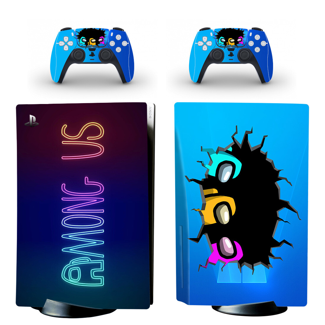 Among Us Skin Sticker For PS5 Skin And Controllers