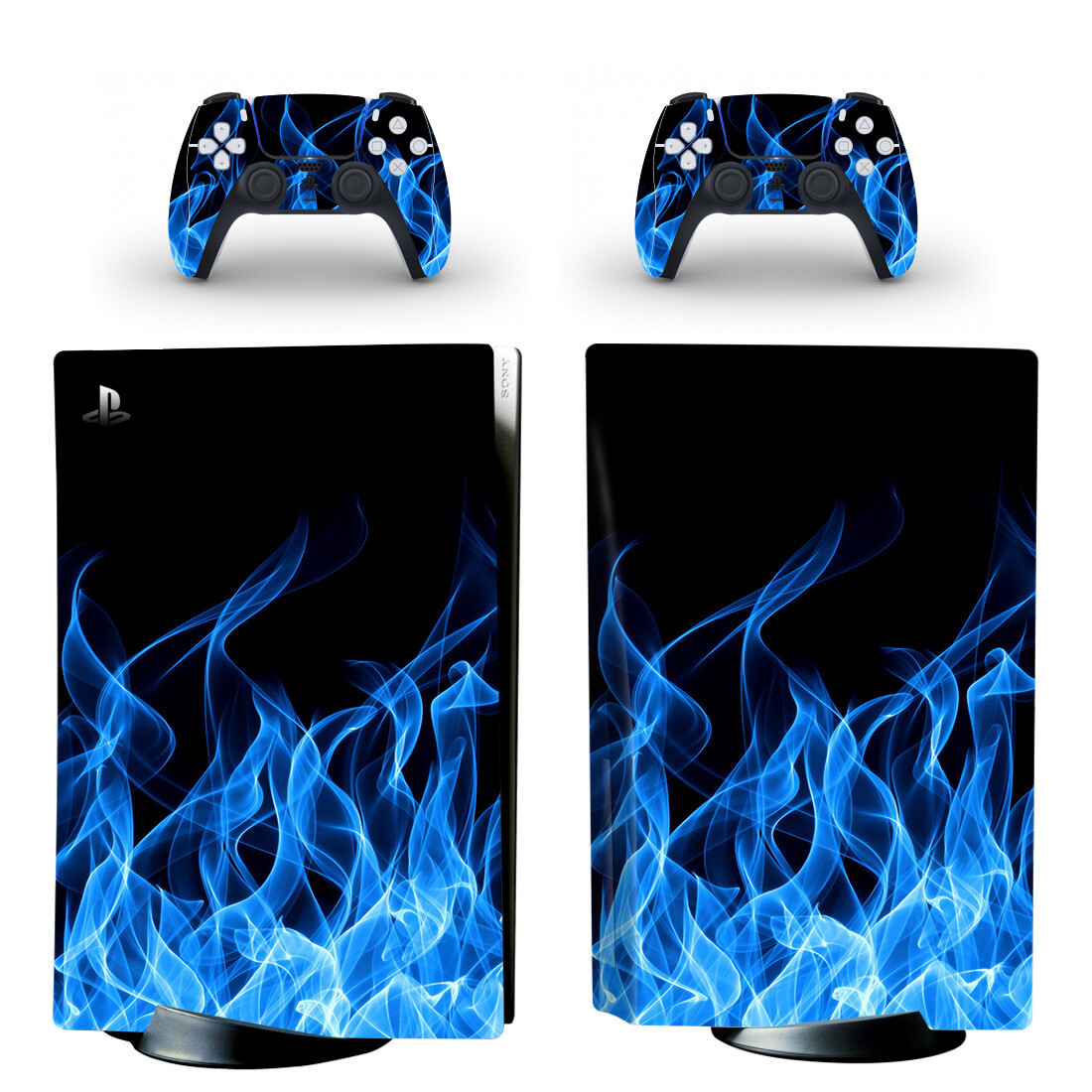 Blue Flame Wallpaper Skin Sticker Decal For PlayStation 5