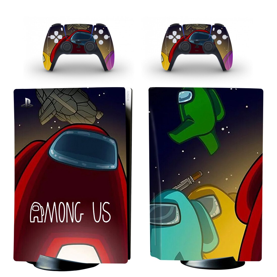 Among Us Skin Sticker For PS5 Skin And Controllers Design 1