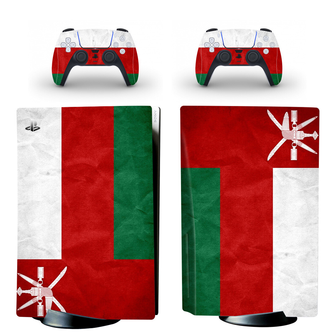 Flag Of Oman Skin Sticker For PS5 Skin And Controllers