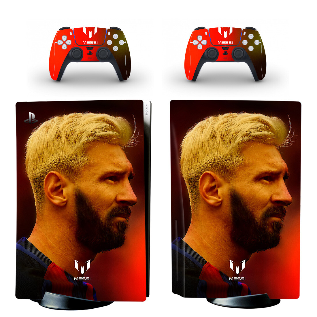 Lionel Messi Skin Sticker For PS5 Skin And Controllers