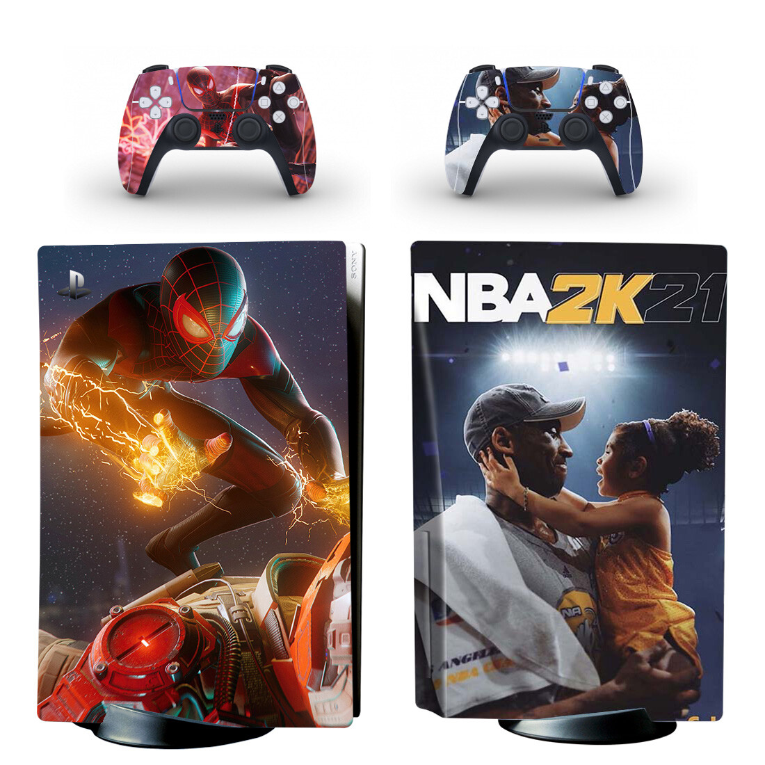NBA 2K21 And Spider-Man Skin Sticker Decal For PlayStation 5