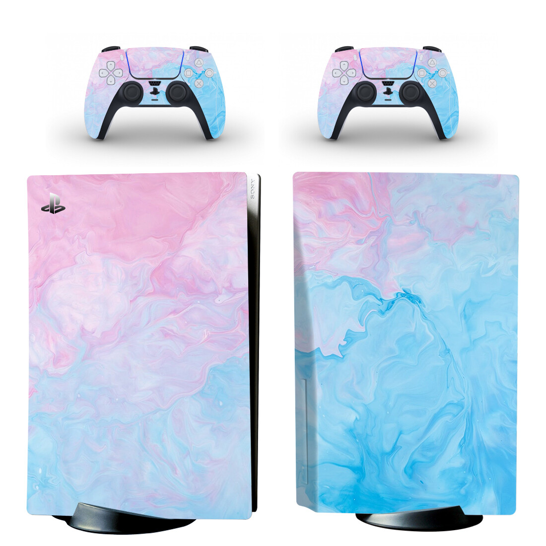 Soild Water Color Skin Sticker Decal For PlayStation 5