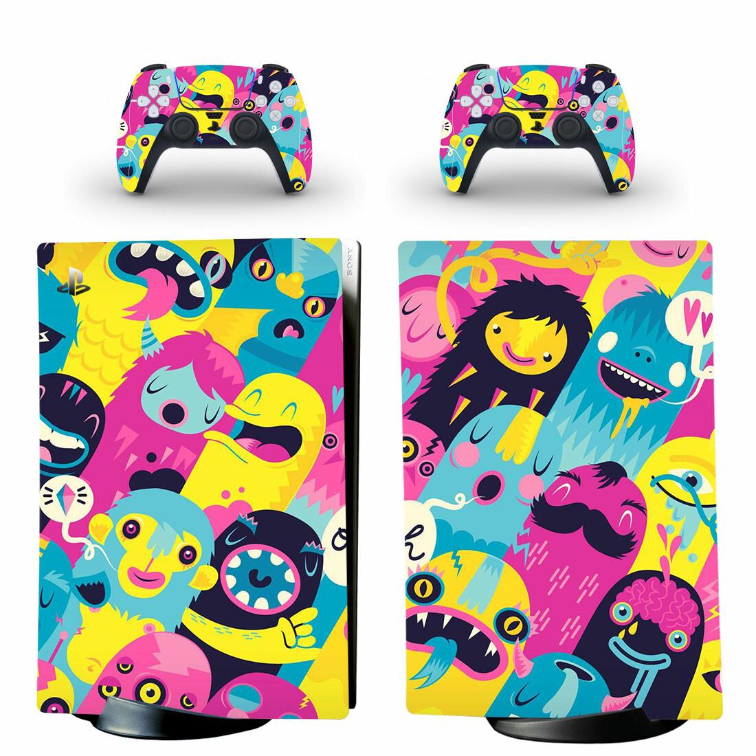 Monster Lienke Raben PS5 Digital Edition Skin Sticker Decal