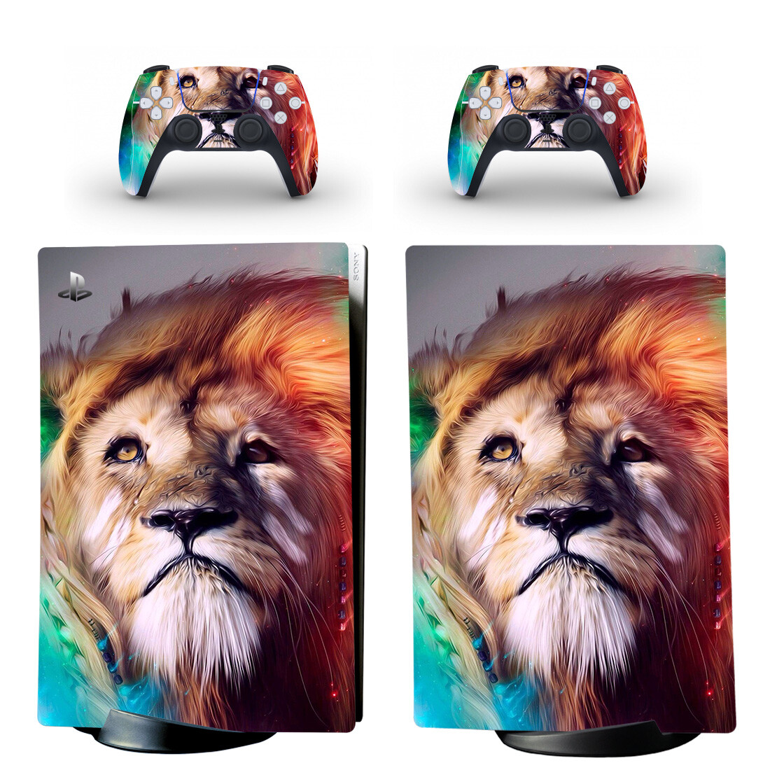 Lion Painting PS5 Digital Edition Skin Sticker Decal