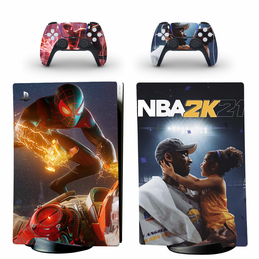 NBA 2K21 And Spider-Man PS5 Digital Edition Skin Sticker Decal