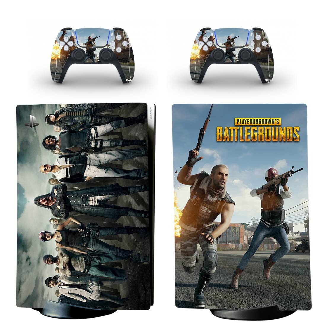 PlayerUnknown's Battlegrounds PS5 Digital Edition Skin Sticker Decal Design 1