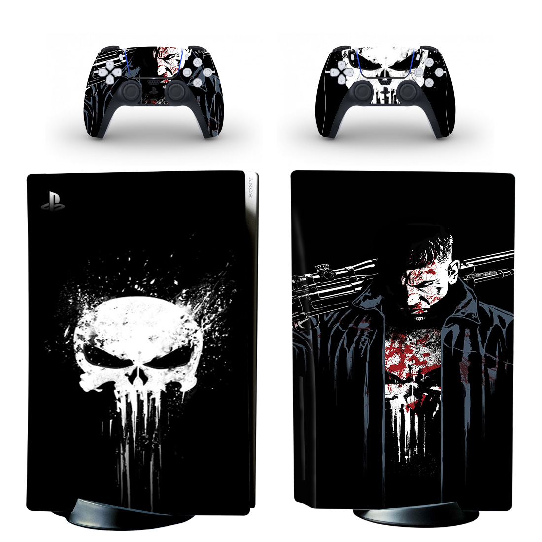 Marvel The Punisher Skin Sticker Decal For PlayStation 5