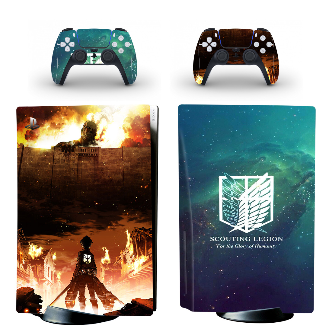 Attack On Titan Skin Sticker For PlayStation 5 And Controllers
