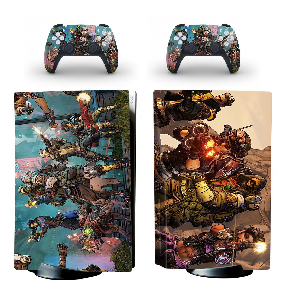 Borderlands 3 PS5 Skin Sticker Decal Design 1