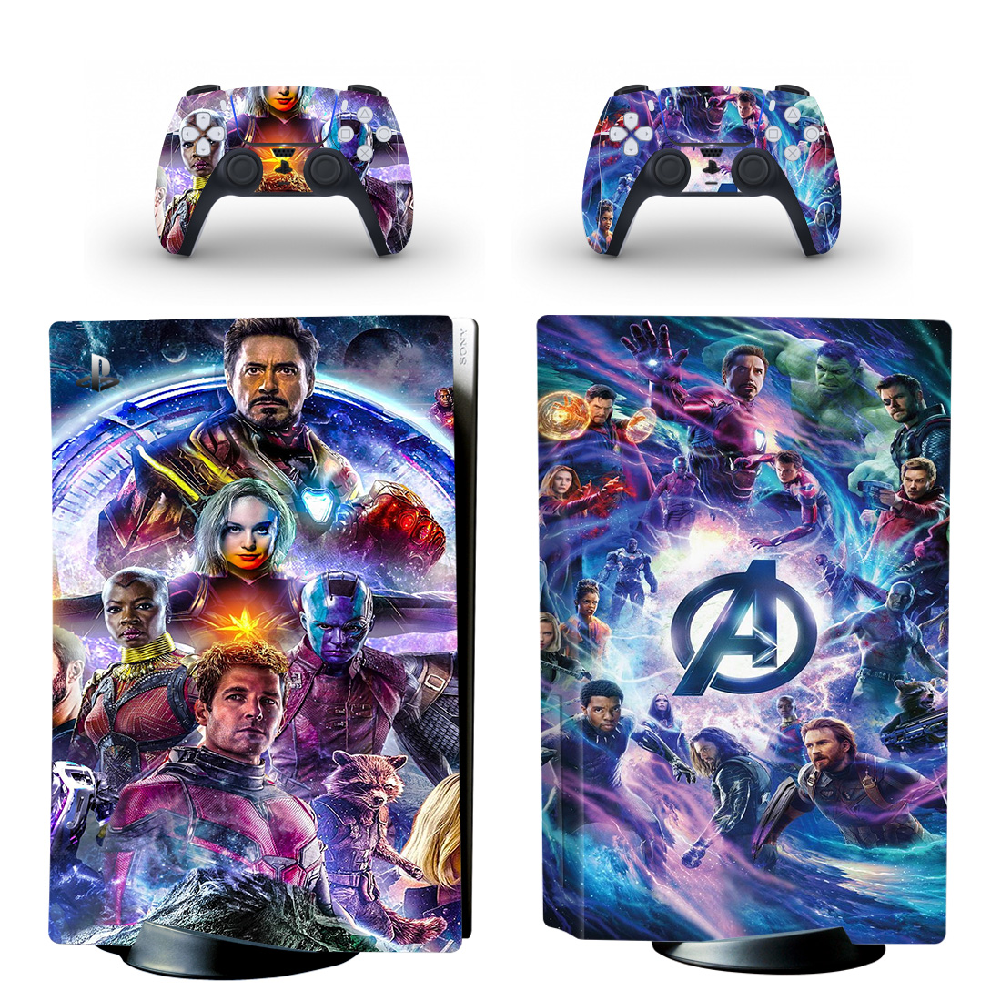 Avengers Skin Sticker For PlayStation 5 And Controllers