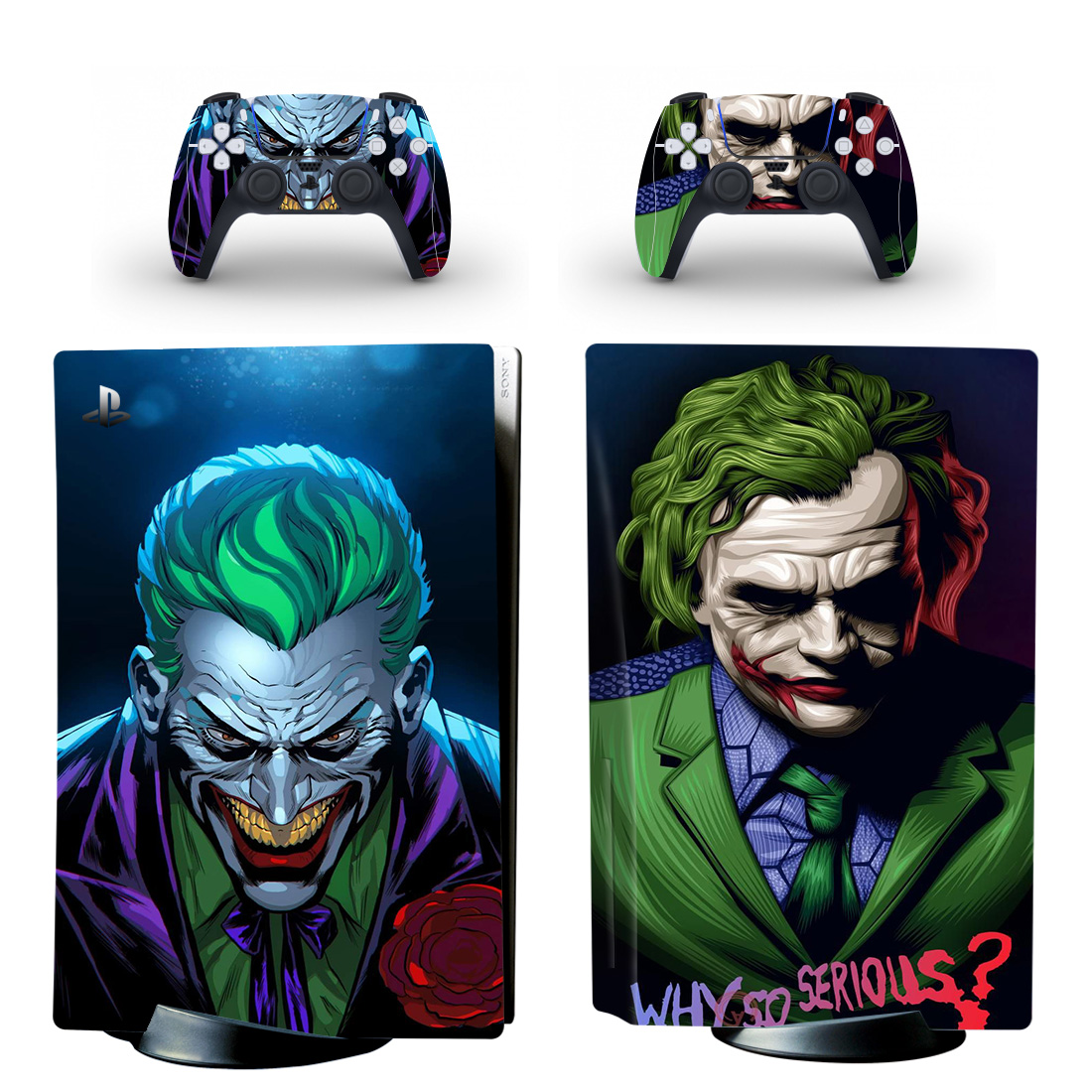 Why so serious Joker Skin Sticker Decal For PlayStation 5