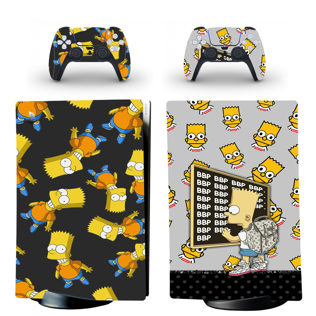 The Simpson Skin Sticker Decal For PS5 Digital Edition And Controllers