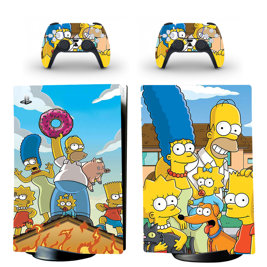 The Simpson Skin Sticker Decal For PS5 Digital Edition Design 1