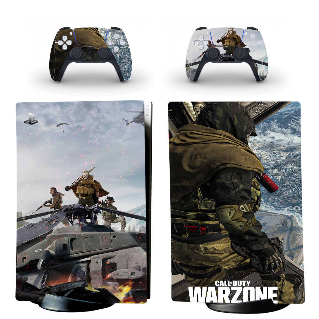Call Of Duty Warzone PS5 Digital Edition Skin Sticker Decal Design 3