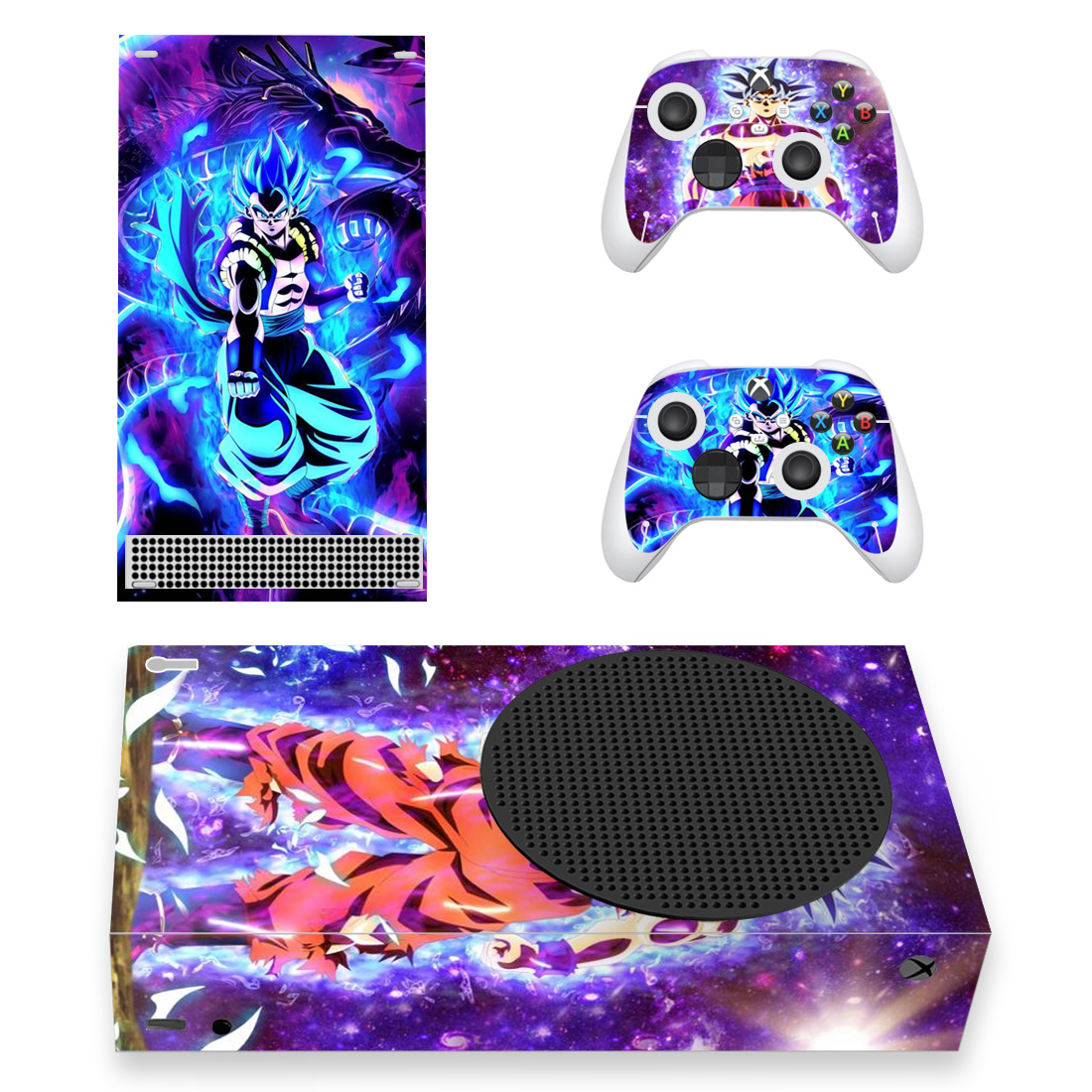 Gogeta Blue Dragon Ball Skin Sticker For Xbox Series S And Controllers