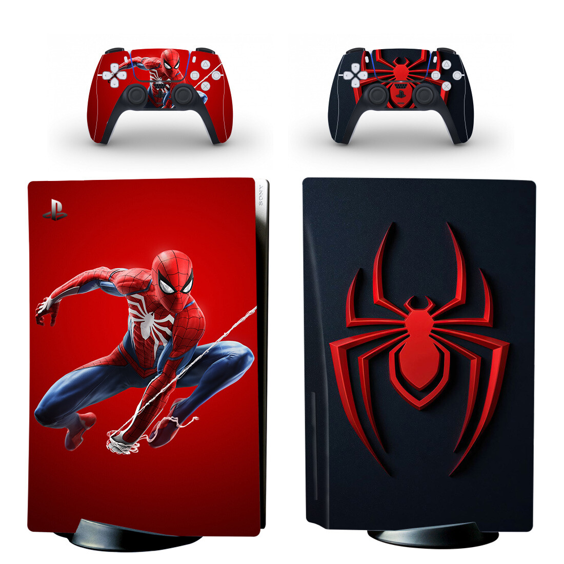 Marvel's Spider Man Skin Sticker For PlayStation 5 And Controllers