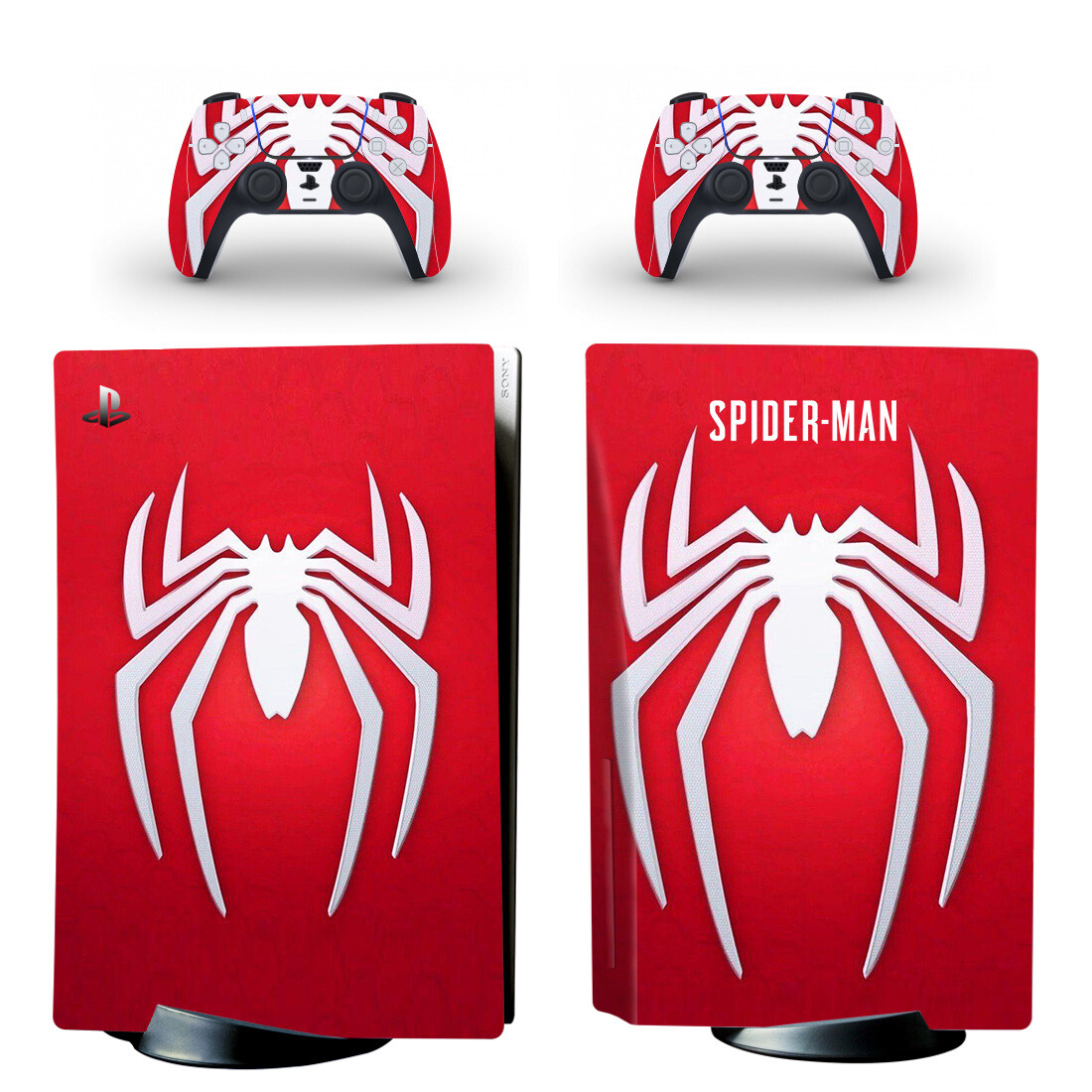 Spider Man Skin Sticker For PlayStation 5 And Controllers Design 1