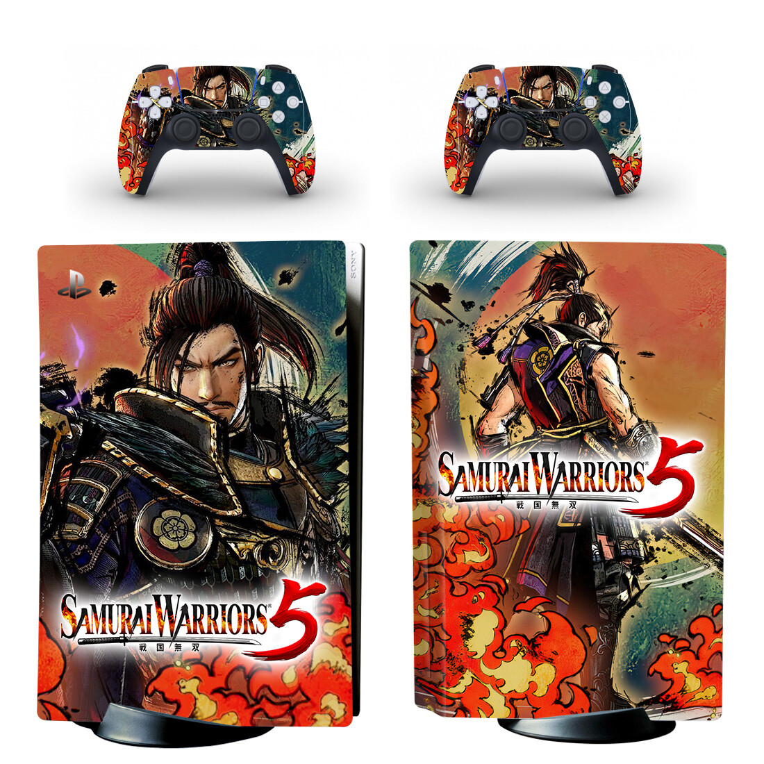 Samurai Warriors 5 Skin Sticker For PlayStation 5 And Controllers