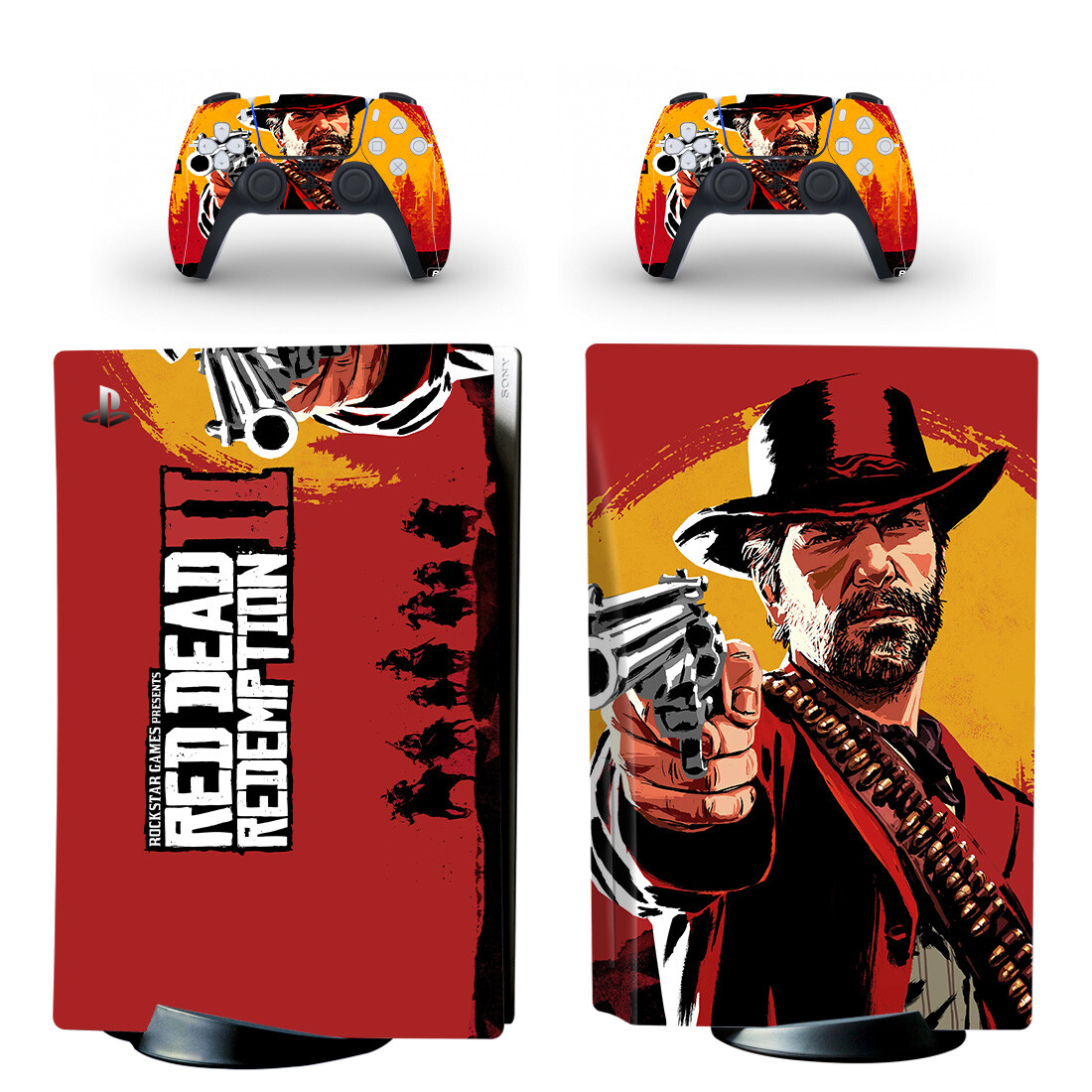 Red Dead Redemption 2 Sticker Decal For PlayStation 5