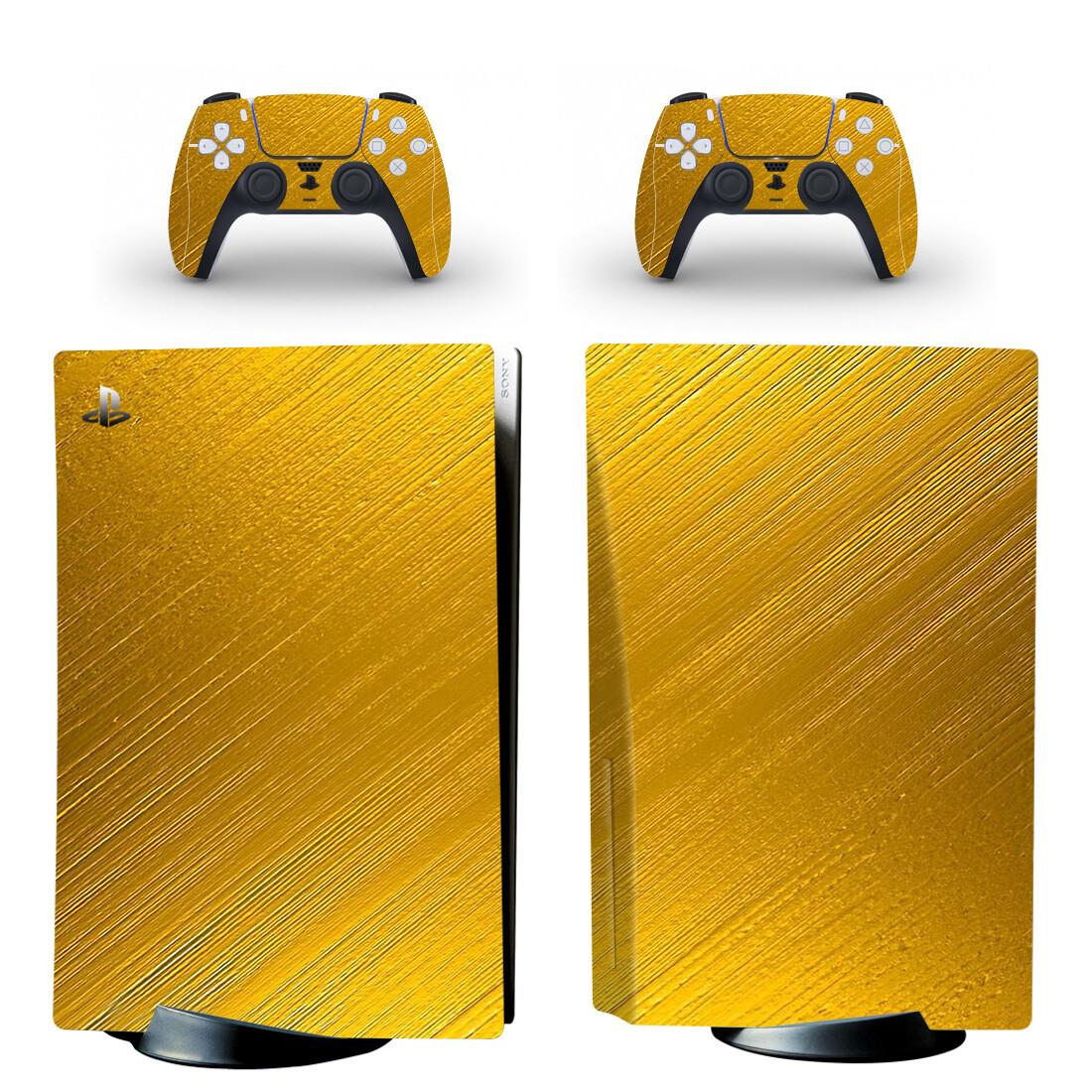 Golden Gradient Skin Sticker Decal For PlayStation 5