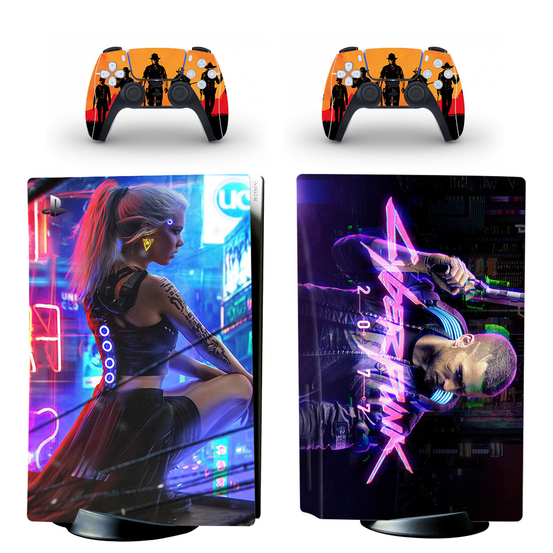 Cyberpunk 2077 Skin Sticker For PlayStation 5 And Controllers