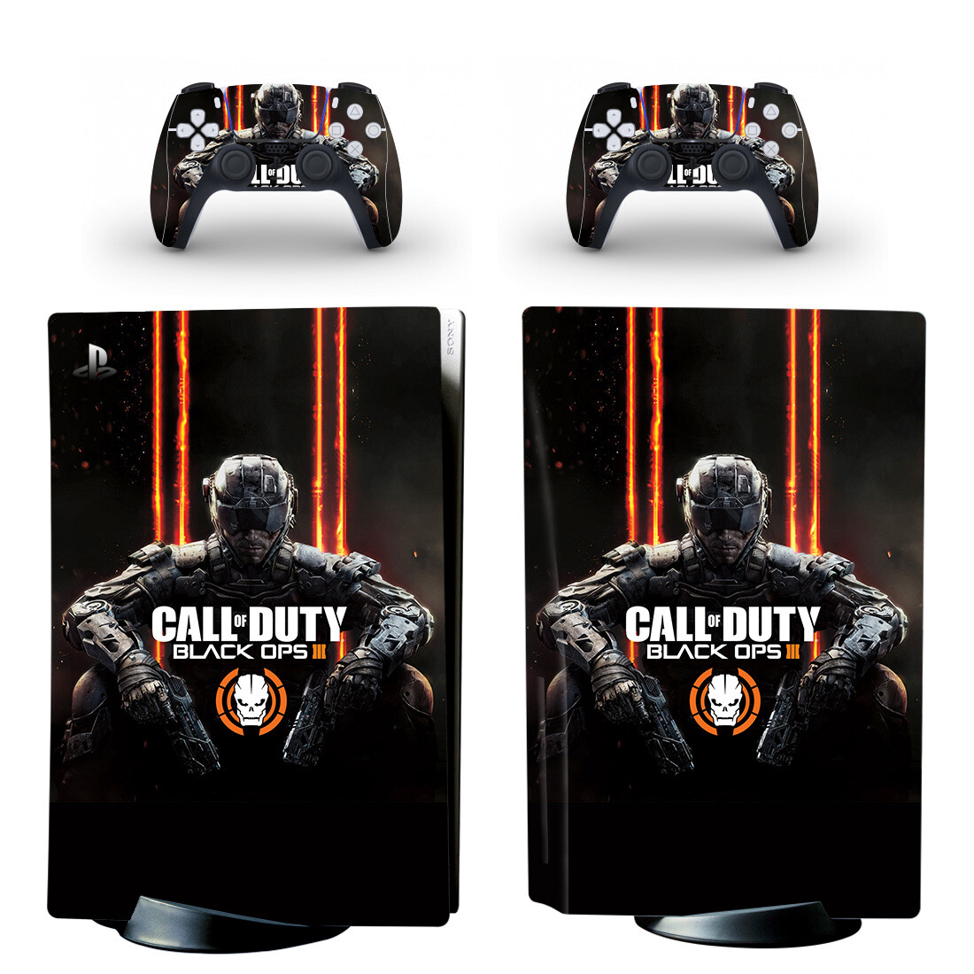 Call of Duty Black Ops 3 Skin Sticker For PlayStation 5 And Controllers