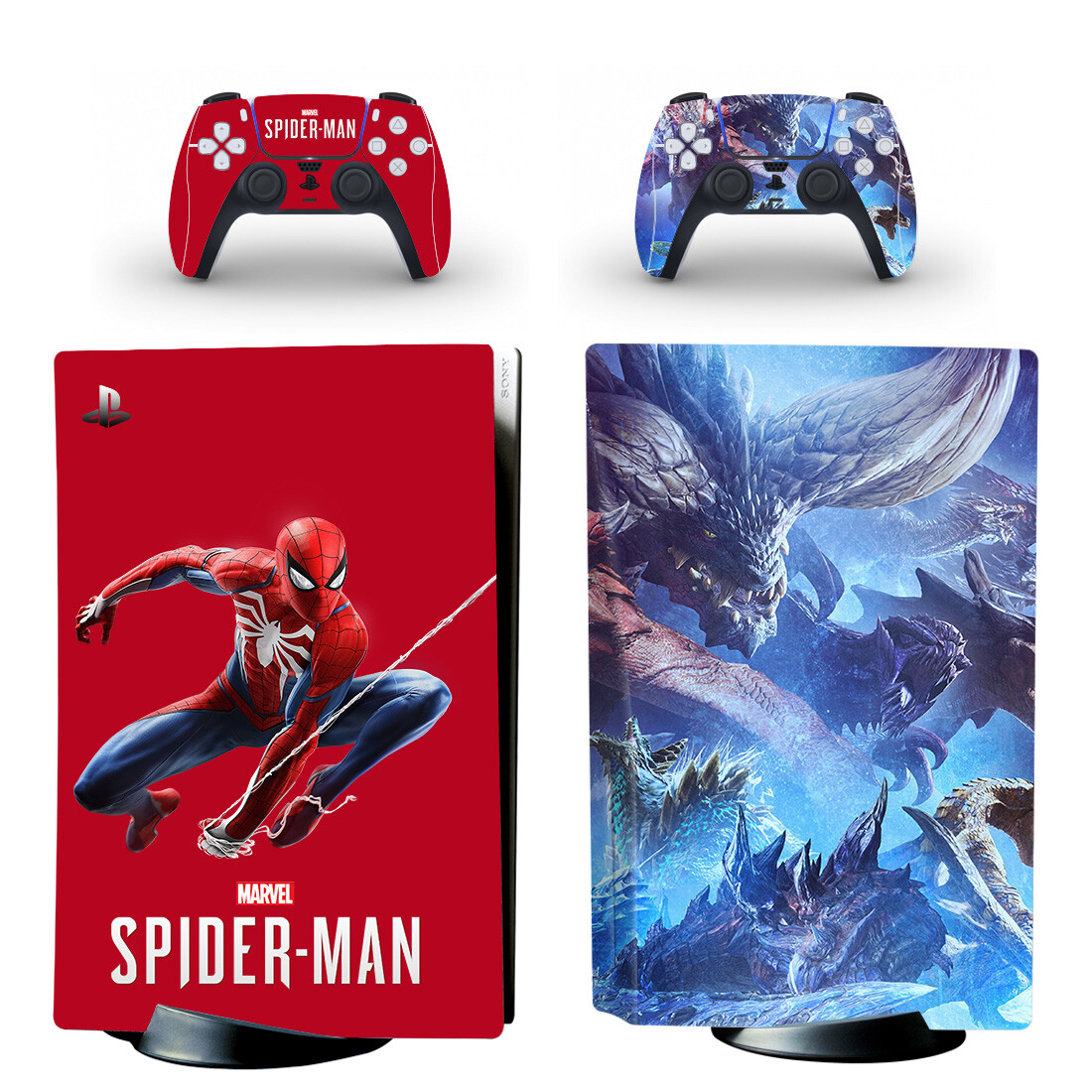 Marvel Spider Man Skin Sticker For PS5 Skin And Controllers