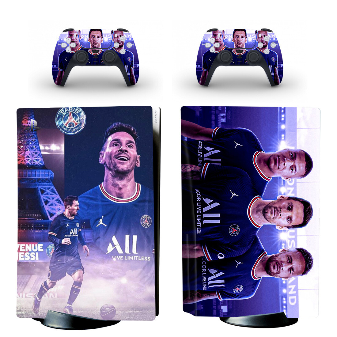 Messi Neymar And Mbappe Skin Sticker Decal For PlayStation 5