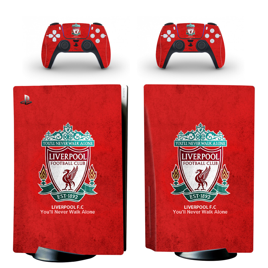 Liverpool Football Club Skin Sticker For PlayStation 5 And Controllers