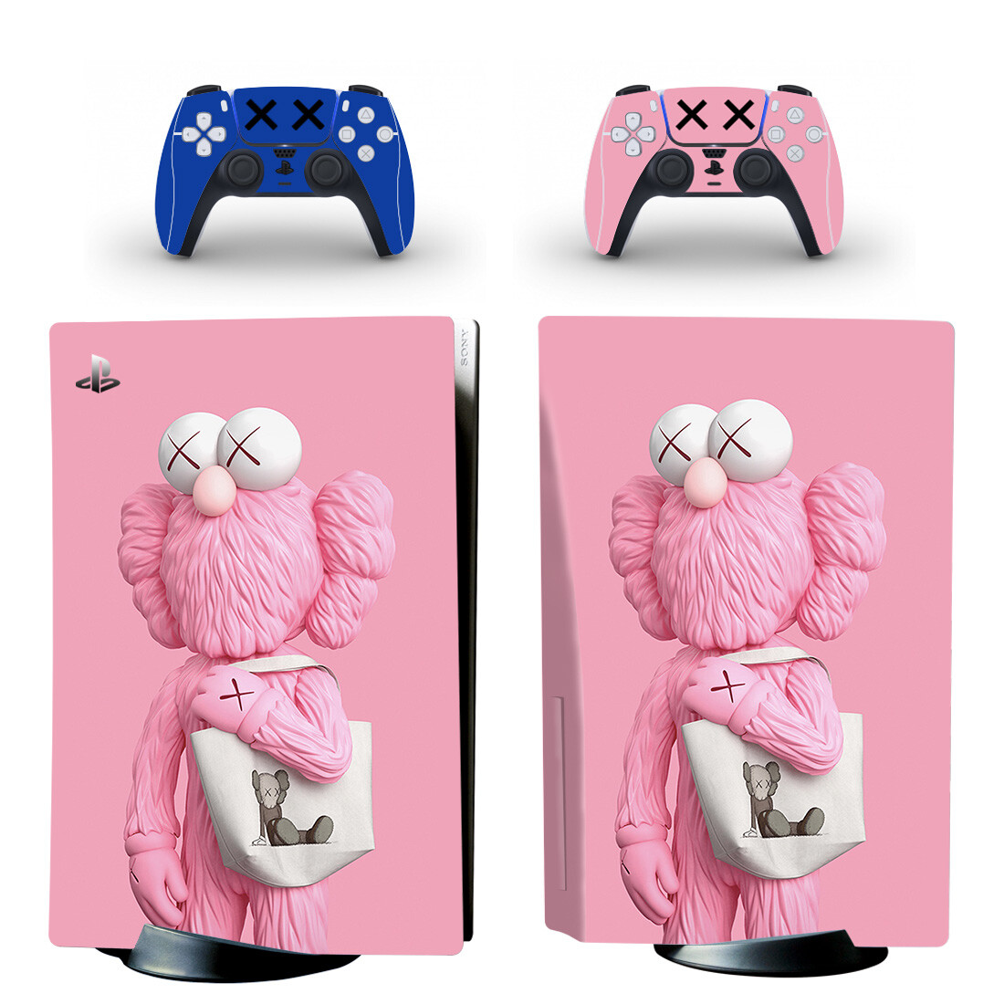 Kaws Pink Skin Sticker For PlayStation 5 And Controllers