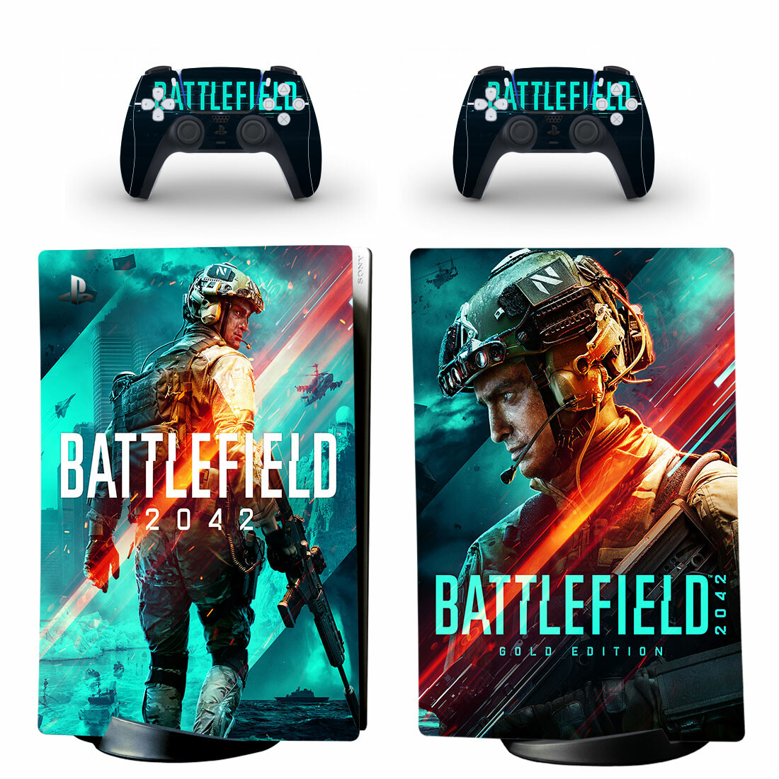 Battlefield 2044 Skin Sticker Decal For PS5 Digital Edition And Controllers
