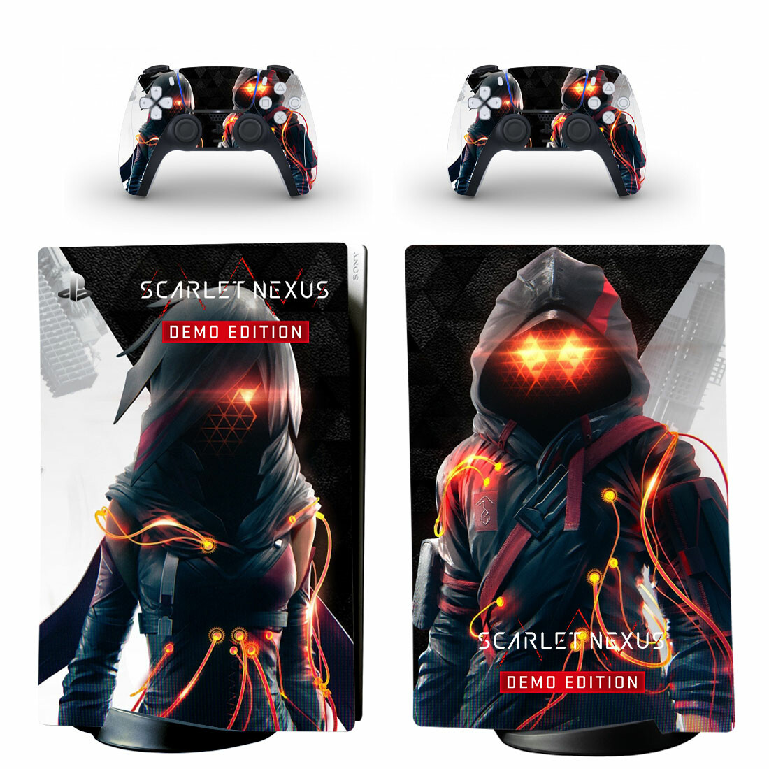 Scarlet Nexus Skin Sticker Decal For PS5 Digital Edition And Controllers
