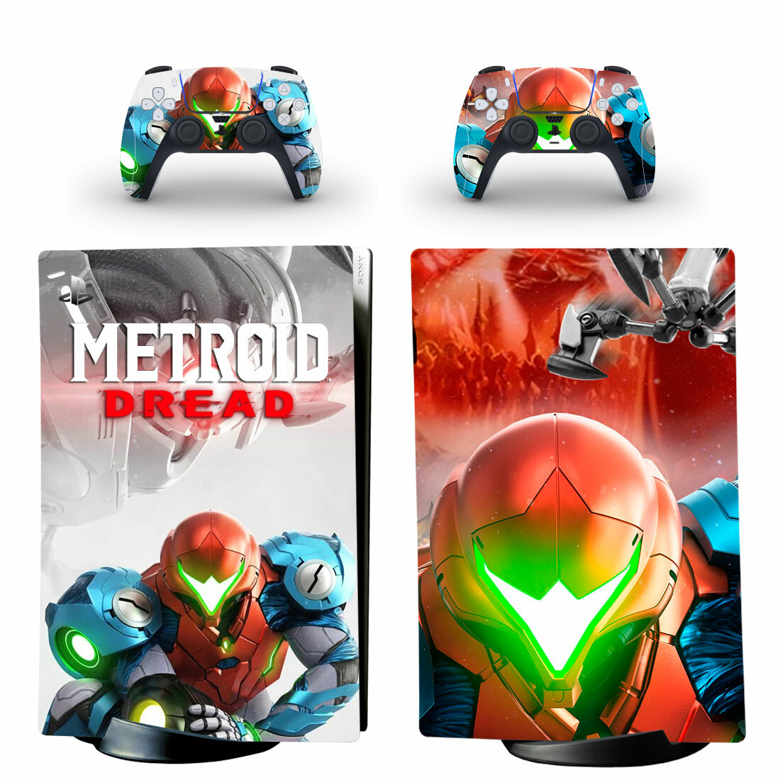 Metroid Dread Skin Sticker Decal For PS5 Digital Edition Design 1