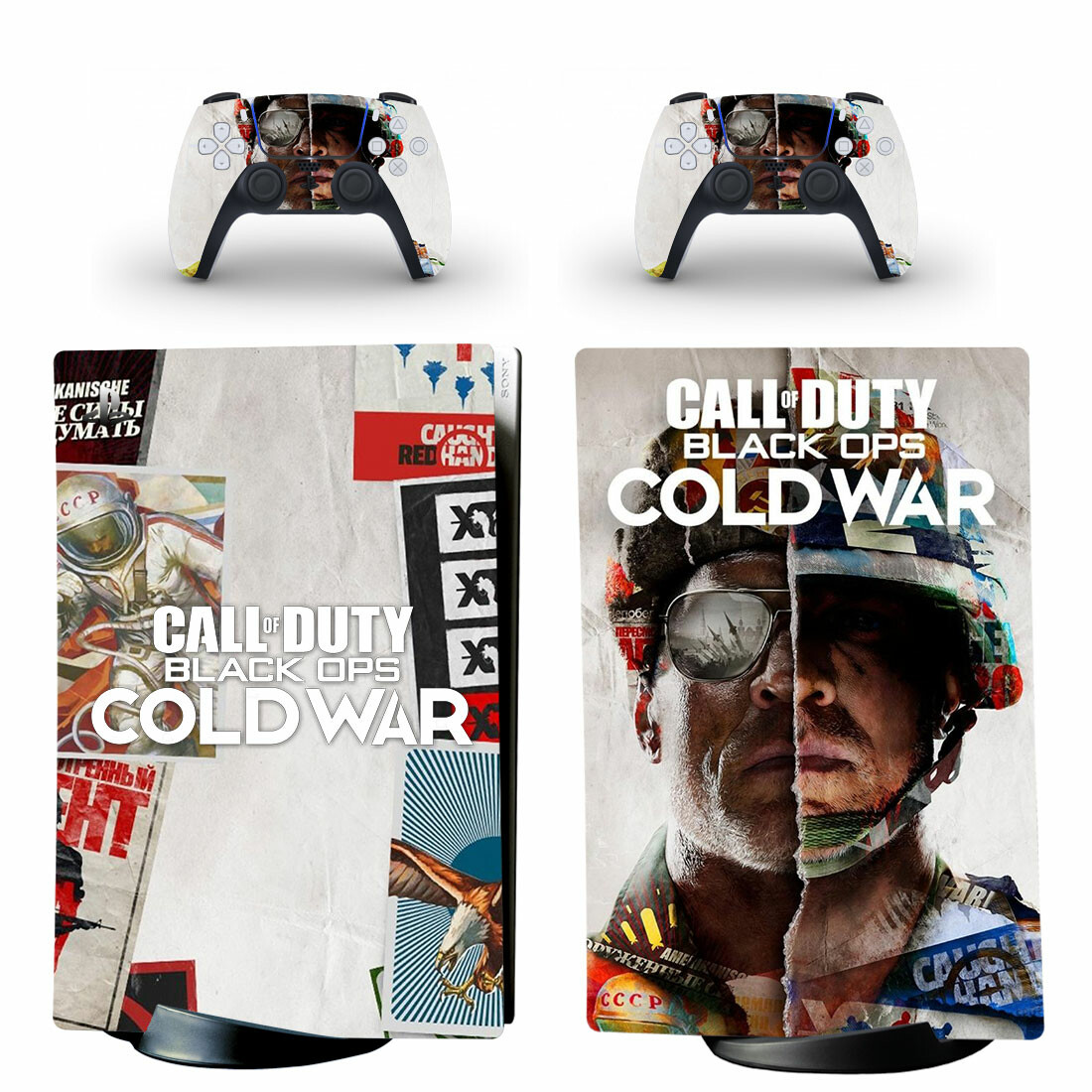 Call Of Duty Gold War Sticker Decal For PS5 Digital Edition And Controllers