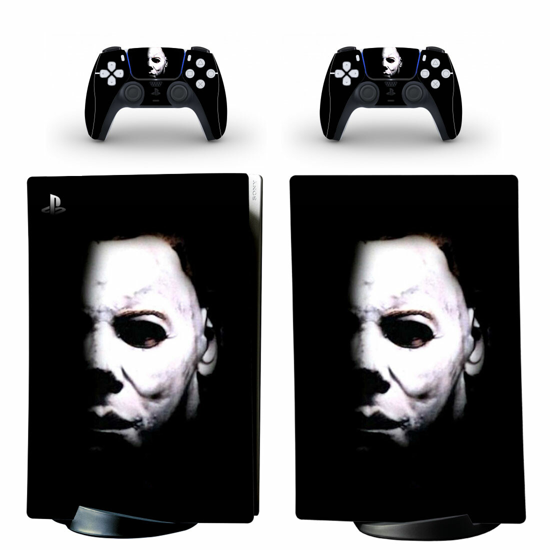 Michael Myers Skin Sticker Decal For PS5 Digital Edition And Controllers