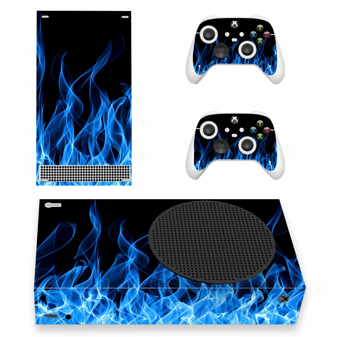 Blue Fire Wallpapers Skin Sticker For Xbox Series S And Controllers