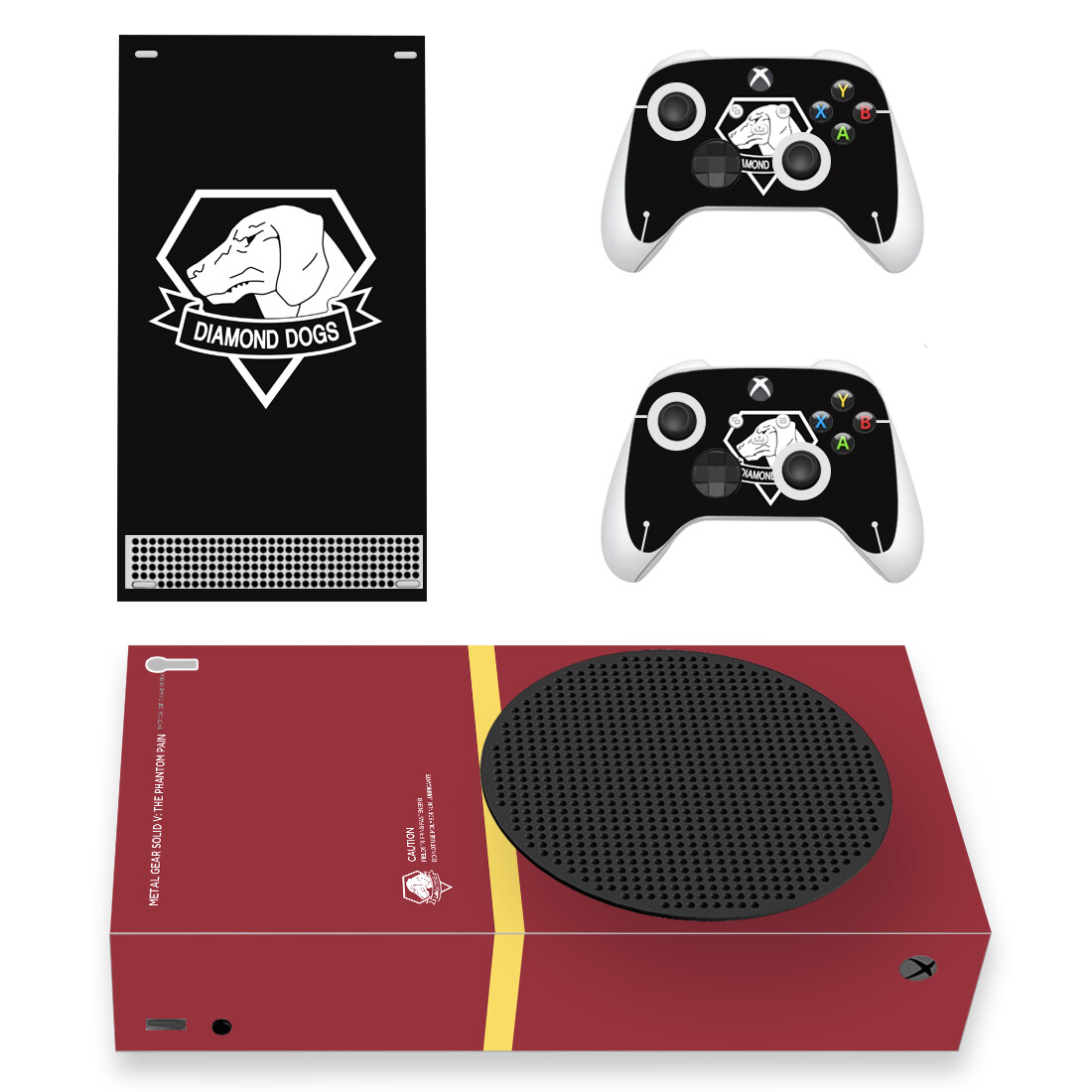 Diamond Dogs Metal Gear Skin Sticker For Xbox Series S And Controllers