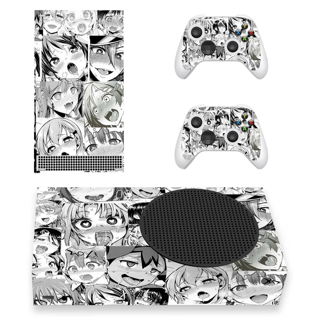 Ahegao Skin Sticker For Xbox Series S And Controllers