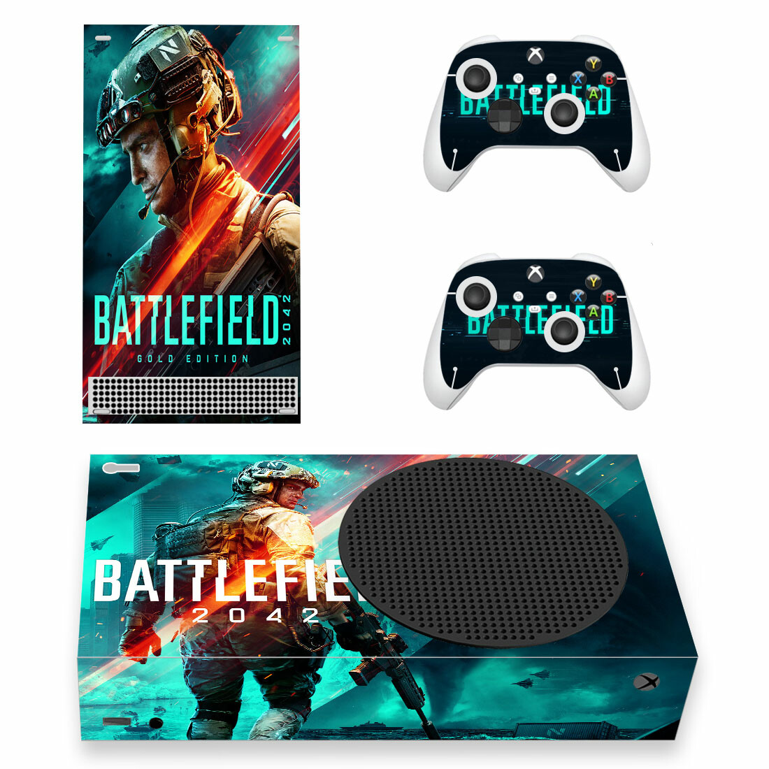 Battlefield 2042 Skin Sticker For Xbox Series S And Controllers