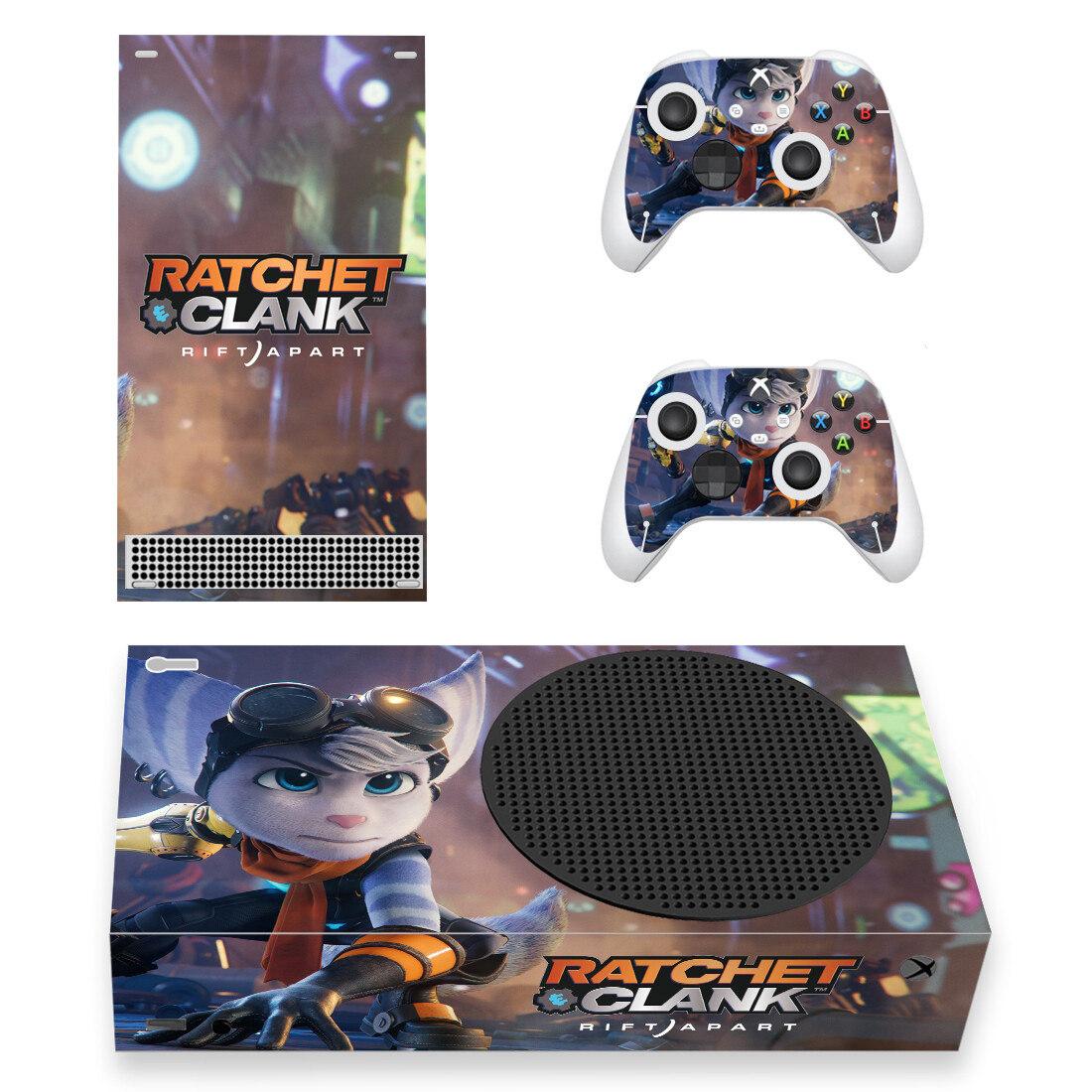 Ratchet And Clank Skin Sticker Decal For Xbox Series S