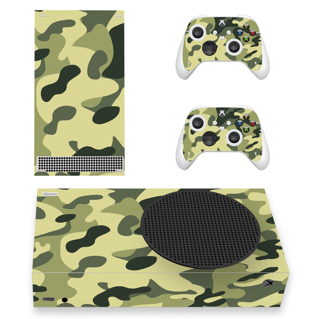 Olive Green Military Camouflage Skin Sticker For Xbox Series S And Controllers