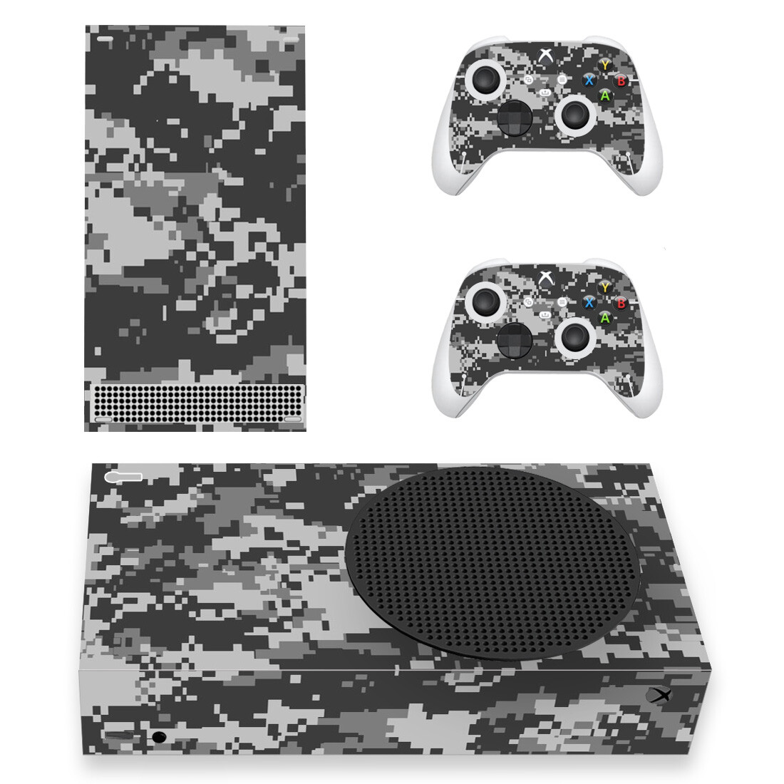 Grey Urban Camouflage Skin Sticker For Xbox Series S And Controllers