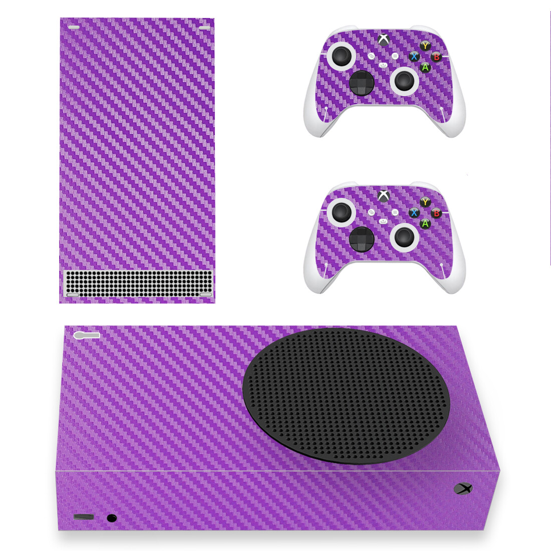 Purple Carbon Skin Sticker Decal For Xbox Series S