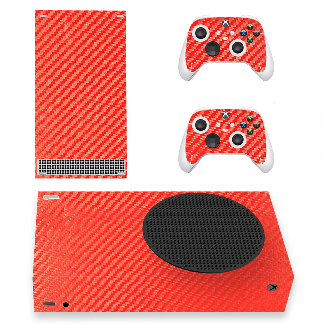 Red Carbon Skin Sticker Decal For Xbox Series S