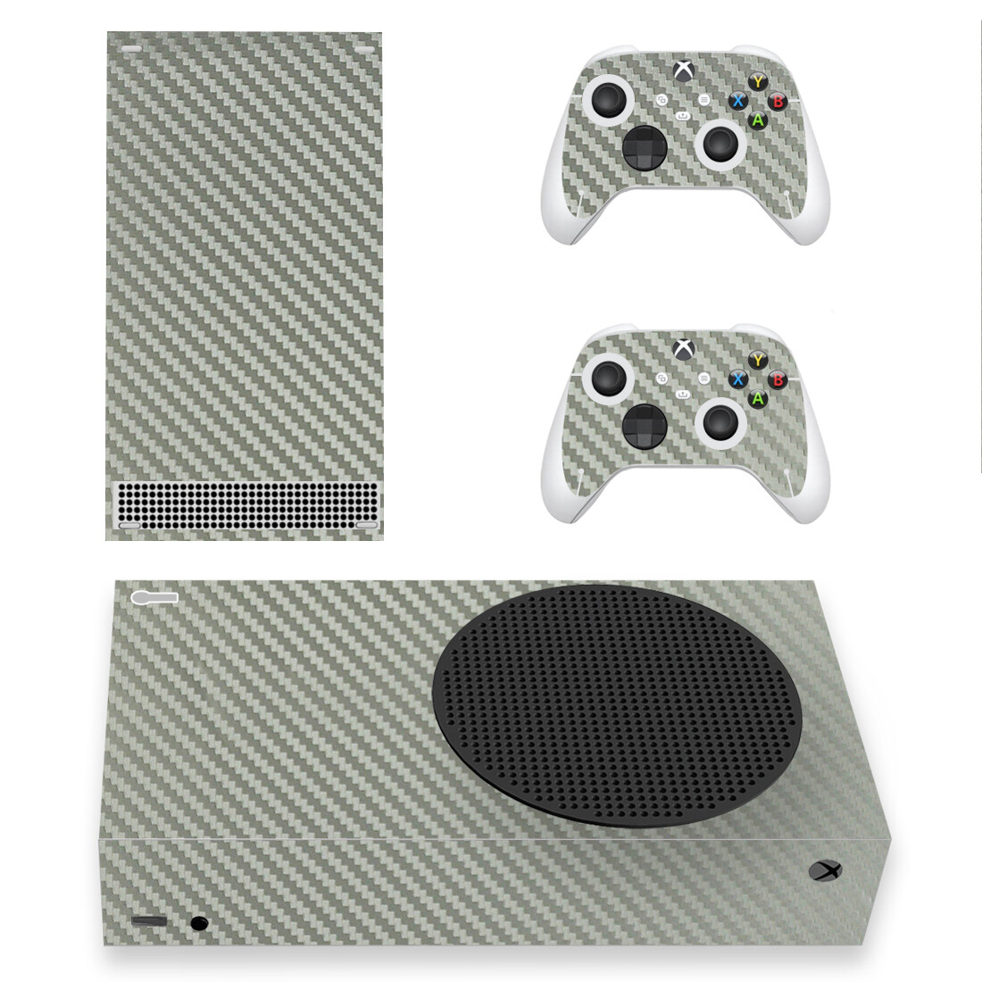 YSXSS0712 Grey Carbon Skin Sticker Decal For Xbox Series S