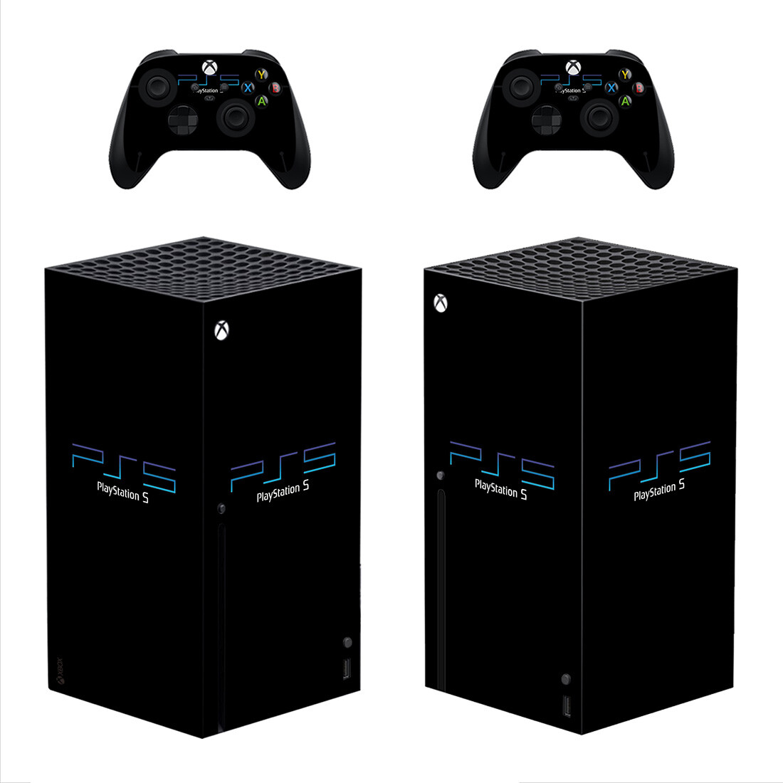 Matte Black Playstation 5 Xbox Series X Skin Sticker Decal